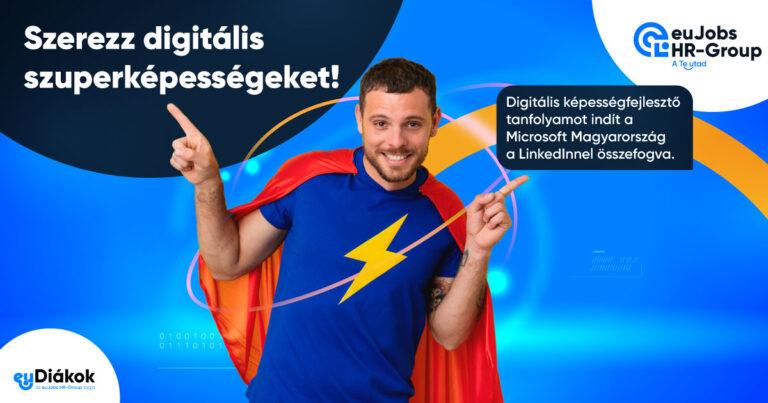 Szerezz digitális szuperképességeket a Microsoft Magyarország ingyenesen elérhető online képzéseivel