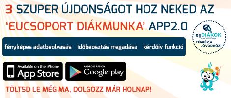 3 szuper újdonságot hoz neked az eucsoport diákmunka app2.0